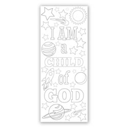 Space Coloring Bookmark coloring bookmark, lds bookmark, lds coloring bookmark, primary bookmark, lds childrens bookmark, space bookmark, boys lds bookmark