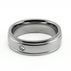 Sparkle Stainless Steel Narrow Ring