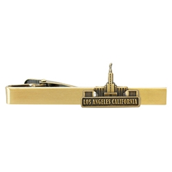 Los Angeles Temple Tie Bar - Gold