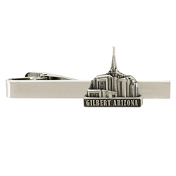 Gilbert Temple Tie Bar - Silver
