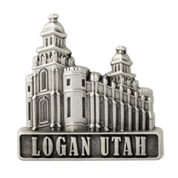 Logan Utah Temple Pin - Silver
