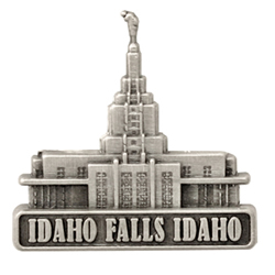 Idaho Falls Temple Pin - Silver