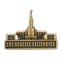 Los Angeles Temple Pin - Gold