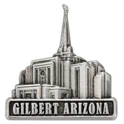 Gilbert Arizona Temple Pin - Silver