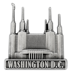Washington D.C. Temple Pin - Silver