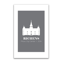 Personalized Temple Vector Poster - Square lds poster, lds temple poster, lds temple vector poster