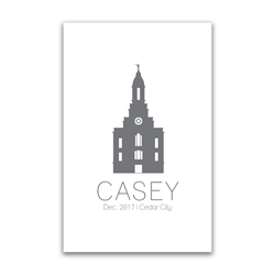 Personalized Temple Vector Poster - Outline lds poster, lds temple poster, lds temple vector poster