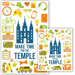 Make Time for the Temple Posters - Printable lds temple poster, lds make time for the temple poster, lds make time for temple poster, make time for templer poster, temple poster, temple reminder poster, lds temple reminder poster,