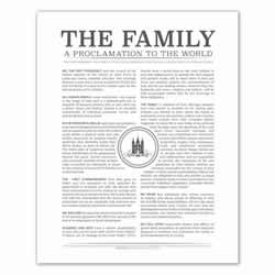 Temple Stamp Family Proclamation - Charcoal - Printable family proclamation, family proclamation to the world, the family proclamation, temple family proclamation, temple stamp, charcoal family proclamation