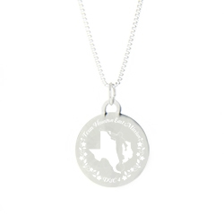 Texas Mission Necklace - Silver/Gold texas lds mission jewelry