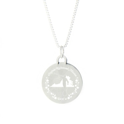 Virginia Mission Necklace - Silver/Gold virginia lds mission jewelry