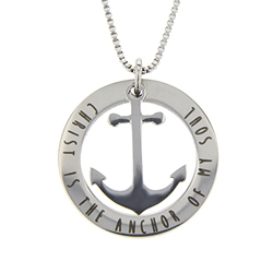 Christ is the Anchor of My Soul Necklace