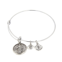 Press Forward Bangle Bracelet - Silver