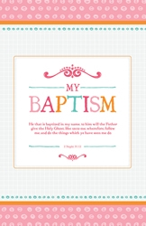 My Baptism Program Cover - Pink