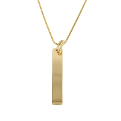 Customizable Vertical Bar Necklace - Gold