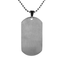 Customizable Dog Tag Necklace - Silver customizable dog tags, customizable jewelry, personalized jewelry