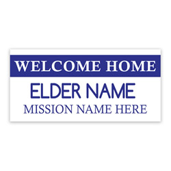 Tag Missionary Banner - Elder lds missionary banner, tag missionary banner, coming home missionary poster, homecoming mission poster, sisters homecoming banner, elders missionary poster, elders missionary banner, mission tag welcome home banner