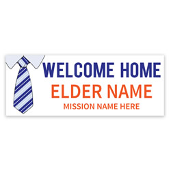 Tie Missionary Banner lds missionary banner, tie missionary banner, shirt and tie missionary poster, homecoming tie mission poster, elders homecoming banner, elders missionary poster, elders missionary banner