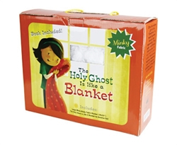 The Holy Ghost Is Like a Blanket - Book & Blanket Gift Set holy ghost, holy ghost is like a blanket, holy ghost blanket, blanket, blanket gift set, book gift set, baptism gift, baptism gift set