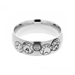 Gallifreyan Choose the Right Ring - Wide Gallifreyan CTR Ring