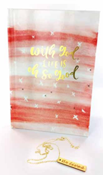 With God Life Is Oh So Good Journal & Necklace Gift Pack