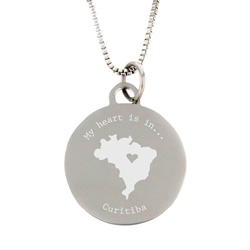 My Heart Is In Country Necklace - Silver