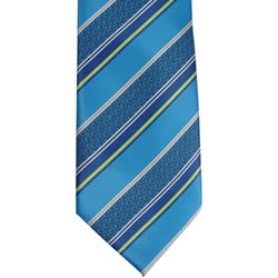 Boys Adjustable Blue Stripe CTR Tie