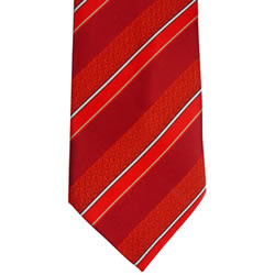 Mens CTR Red Stripe Tie