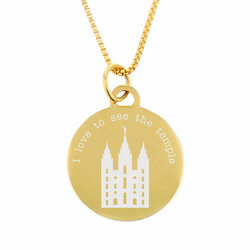 I Love to See the Temple Necklace - Gold