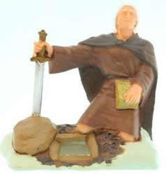 Moroni Burying the Plates Figurine - 3""