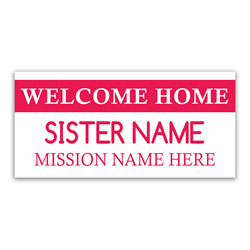 Tag Missionary Banner - Sister lds missionary banner, tag missionary banner, coming home missionary poster, homecoming mission poster, sisters homecoming banner, sisters missionary poster, sisters missionary banner, mission tag welcome home banner