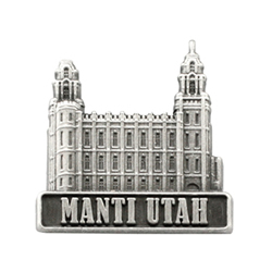 Manti Utah Temple Pin - Silver