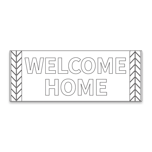 Coloring missionary banner wheat in welcome home banners for Welcome home coloring page