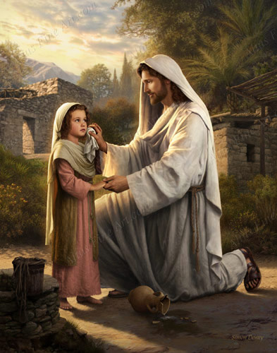 I Will Dry Your Tears - Print in Jesus Christ ... Jesus Christ Lds Simon Dewey