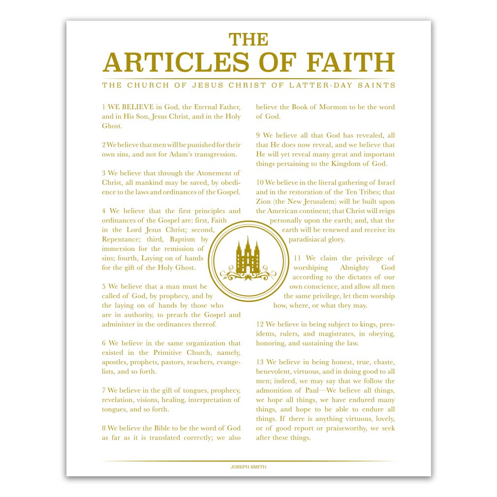 Articles of faith upc