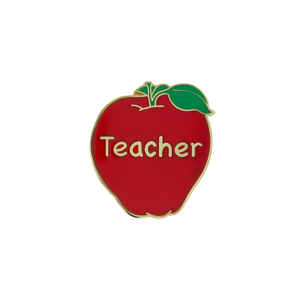 Apple Teacher Pin